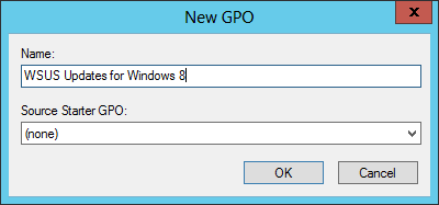 New Group Policy Object